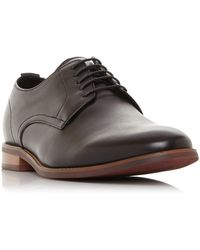 Dune Suffolks Leather Gibson Shoes - Brown