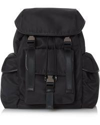 Dune Neuton Nylon Utility Backpack - Black