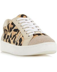 Dune | Eqypt Contrast Panel Lace Up Trainers | Lyst