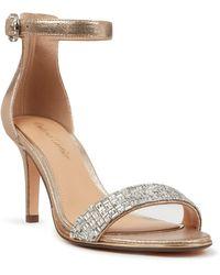 Roland Cartier Maxxiie Embellished Heel Sandals - Metallic