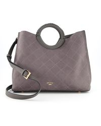 Dune Large Quilt Stitch Tote Bag - Grey