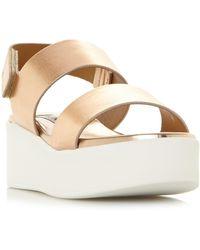 Steve Madden Rachel Sm Flatform Wedge Sandal - Metallic