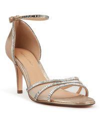 Roland Cartier Mariiana Embellished Heel Sandals - Metallic