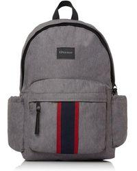 Dune 'oshkosh' Stripe Branded Backpack - Grey