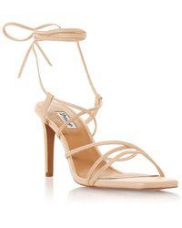 Dune Monique Spaghetti Strap Stiletto Heel Sandals - Natural