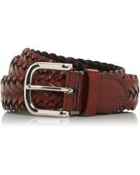 Dune Ordiner Hand Woven Leather Belt - Brown