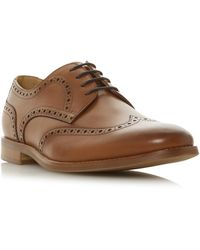 Dune Radiate Lace Up Brogue Shoes - Brown