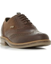 Barbour Redcar Casual Lace Up Brogues - Brown