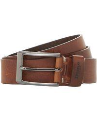 Dune Oblixx Leather Belt - Brown