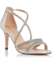 Roland Cartier Melanie Cross Strap Slingback Sandals - Metallic