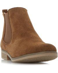 Dune Suede 'prompted' Block Heel Chelsea Boots - Brown