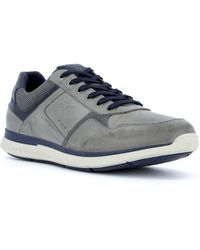 Dune Thymes Lace Up Trainers - Grey