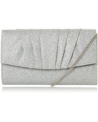 Roland Cartier Briidget Pleated Clutch Bag - Metallic