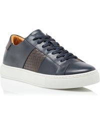 Dune Ty Woven Stripe Trainers - Blue