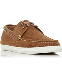 Dune Men's 'bonavista' Mesh Boat Shoes - Brown