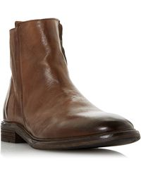 Bertie Cornfield Casual Distressed Zip Ankle Boots - Brown