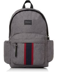 Dune 'oshkosh' Stripe Branded Backpack - Gray