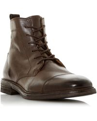 Bertie Copperfield Casual Lace Up Ankle Boots - Brown