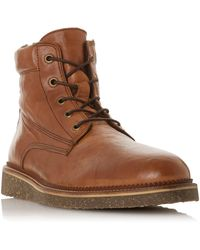 Bertie Carstairs Borg Lined Boots - Brown