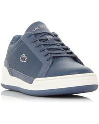 Lacoste Ladies Challenge 2 Logo Chunky Sole Lace-up Trainers - Blue