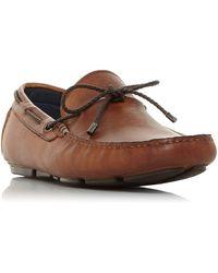 Dune Brandstable Plait Lace Driver Shoes - Brown
