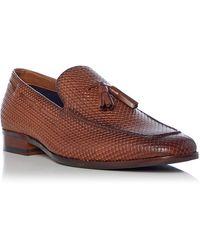 Dune Men's 'simons' Woven Tassel Loafers - Brown