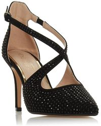 Dune Caroliina Embellished High Heel Court Shoes - Black