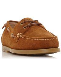 Polo Ralph Lauren Merton Suede Boat Shoes - Brown