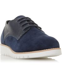 Dune - Flinch Mixed Upper Lace Up Shoe - Lyst
