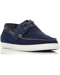 Dune Bonavista Mesh Boat Shoes - Blue