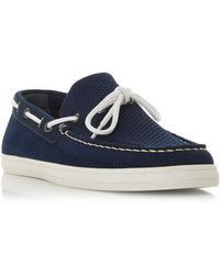 Dune Men's 'buoyancy' Mesh Boat Shoes - Blue