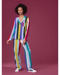 Diane von Furstenberg - Long-sleeve Pajama Top - Lyst