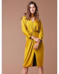 Diane von Furstenberg Front Twist Dress - Yellow