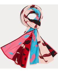 Diane von Furstenberg Filla Merino Wool Scarf - Red