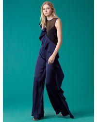 Diane von Furstenberg - Sleeveless Ruffle Jumpsuit - Lyst