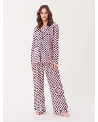 Diane von Furstenberg Cotton Pajama Set - Multicolor