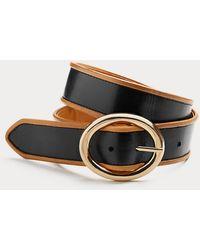 Diane von Furstenberg Milly Leather Belt - Black