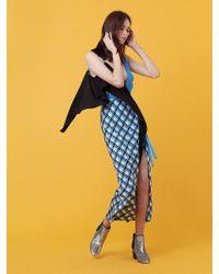 Diane von Furstenberg - Asymmetric Ruffle Front Dress - Lyst