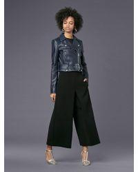 Diane von Furstenberg - Cropped Moto Leather Jacket - Lyst