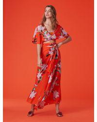 Diane von Furstenberg - Draped Wrap Beach Skirt - Lyst