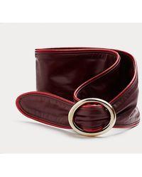 Diane von Furstenberg Zilla Leather Belt - Red