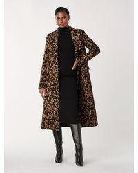 Diane von Furstenberg Elsa Wool-blend Double-breasted Coat - Black