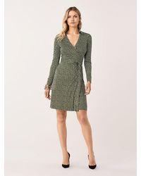 Diane von Furstenberg New Jeanne Two Silk-jersey Wrap Dress - Green