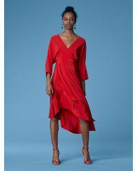 Diane von Furstenberg - Eloise Asymmetric Mini Dress - Lyst
