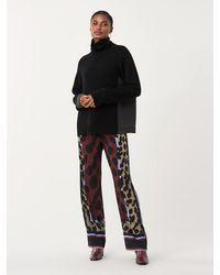 Diane von Furstenberg Nik Stretch Georgette Pajama Pants - Black