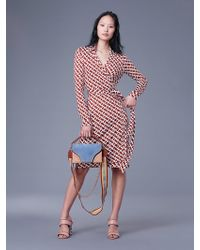 Diane von Furstenberg - The Dvf New Jeanne Two Silk Jersey Wrap Dress - Lyst
