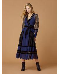 Diane von Furstenberg - Forrest Silk Wrap Dress - Lyst