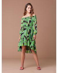 Diane von Furstenberg - Camilla Off-the-shoulder Printed Silk-chiffon Dress - Lyst