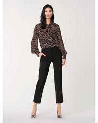 Diane von Furstenberg Lanie Silk-metallic Necktie Blouse - Black