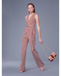 Diane von Furstenberg - Terria Silk Jersey Wrap Jumpsuit - Lyst